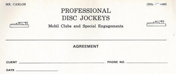 Dj contract 6 dj contract templates free word pdf documents mr carlos professional disc jockeys disco miami florida 1975 to 1980 pronofoot35fo Image collections