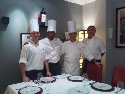 Our Tight Team at the Indigo Restaurant & Lounge at the InterContinental Hotel Miami Florida.