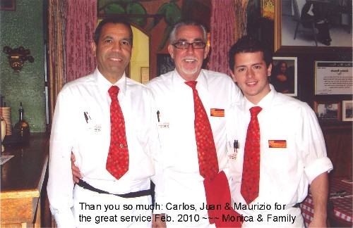 2010 Temporary transition work @ restaurant in Miami Lakes: Carlos, Juan & Maurizio