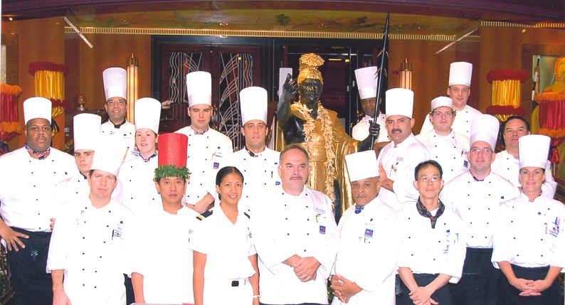 "Here is the Final Voyage Chef's Portrait on the ""Pride of Hawaii"" from Honolulu, Hawaii."