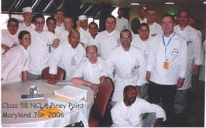 Chef Carlos training in Maryland for the Ship Life with Executive Chefs and other Crew Members January 2006