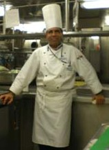 "Executive Chef Carlos J. Gutierrez of Bombolini's as Executive Sous Chef on the MS ""Pride of America"" April 2008 Last Voyage of 3 years in Hawaii."